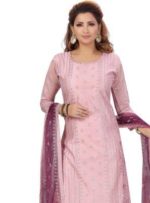 Pink Fancy Designer Straight Suit