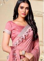 Pink Fancy Fabric Classic Designer Saree