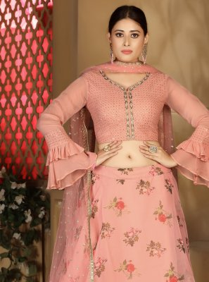 Pink Fancy Readymade Lehenga Choli