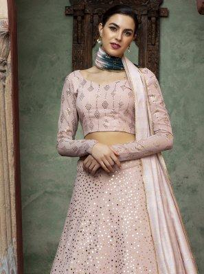 Pink Faux Georgette Lehenga Choli
