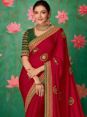Pink Festival Art Silk Trendy Saree