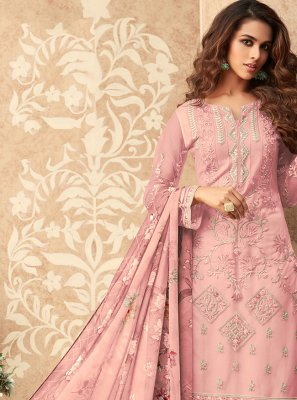 Pink Festival Designer Palazzo Suit