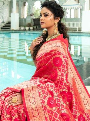 Pink Festival Designer Traditional Saree