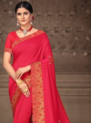 Pink Lace Classic Saree