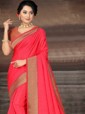 Pink Lace Party Contemporary Saree