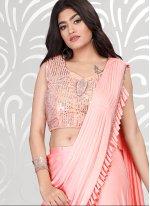 Pink Lycra Festival Classic Designer Saree