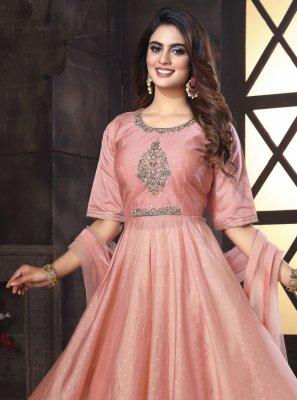 Pink Mehndi Readymade Suit