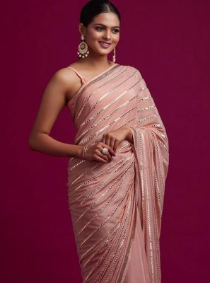 Pink Mirror Classic Designer Saree