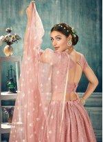 Pink Net Thread Lehenga Choli