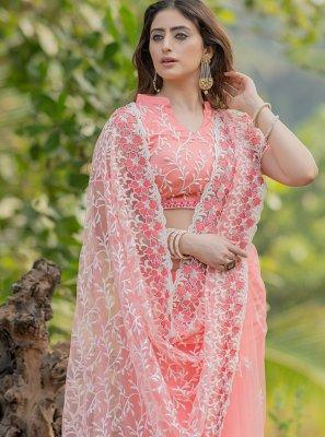 Pink Net Trendy Saree