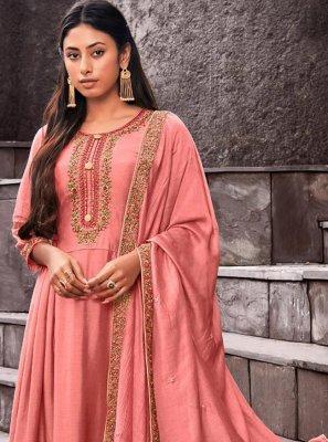 Pink Palazzo Designer Suit