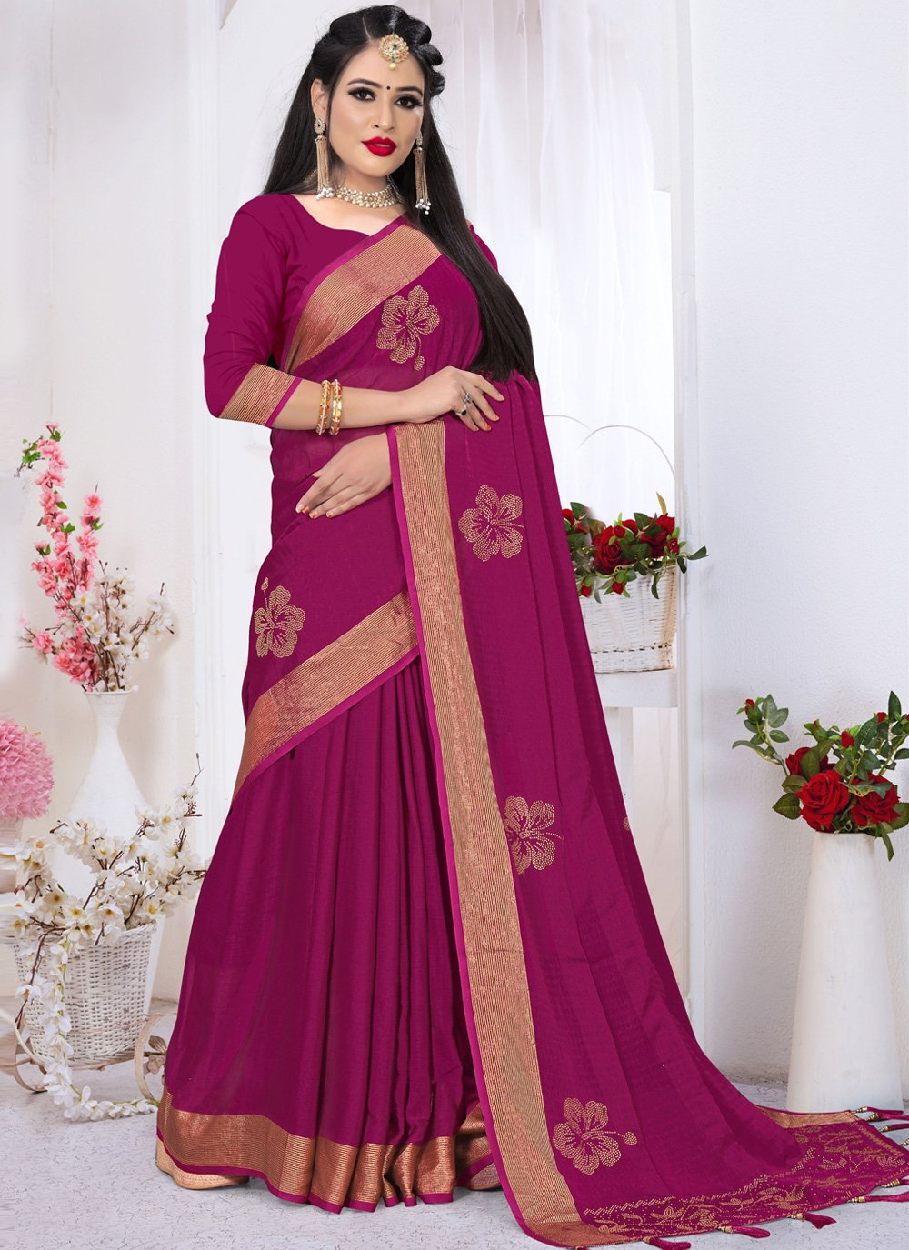 Pink Party Classic Saree
