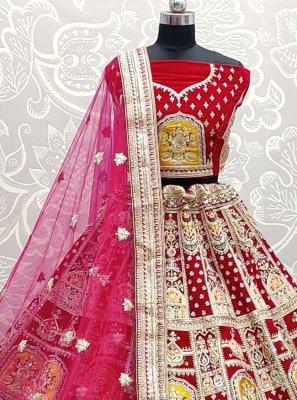 Pink Patch Border Lehenga Choli