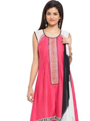 Pink Patchwork Readymade Salwar Kameez