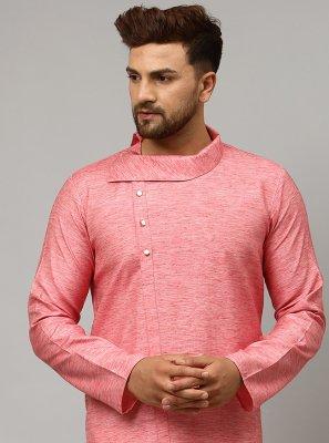 Pink Plain Kurta