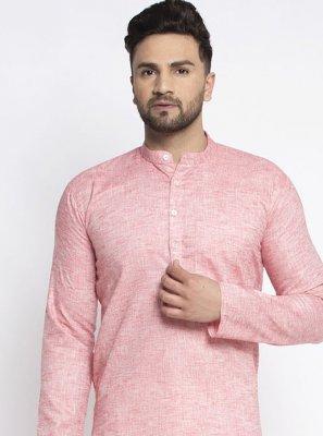 Pink Plain Mehndi Kurta