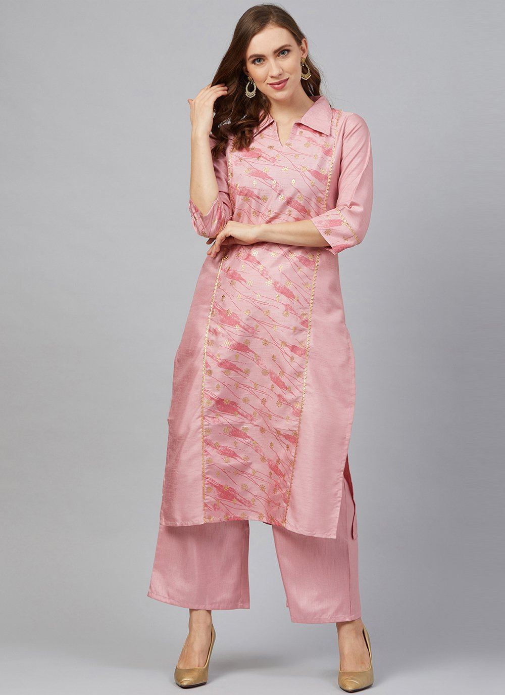 Pink Print Party Designer Kurti