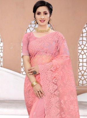 Pink Resham Ceremonial Classic Designer Saree