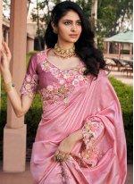 Pink Resham Classic Saree