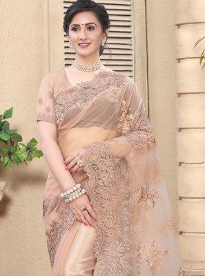 Pink Resham Festival Designer Saree