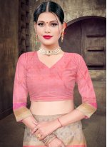 Pink Silk Ceremonial Designer Saree
