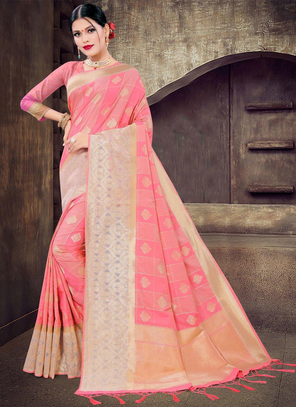 Pink Silk Ceremonial Designer Saree