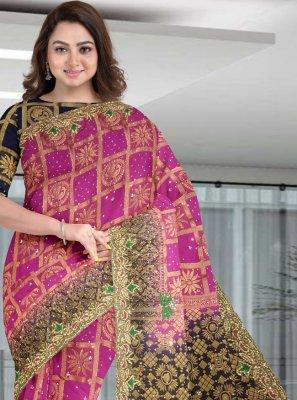 Pink Silk Classic Designer Saree