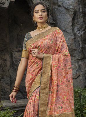 Pink Silk Festival Traditional Saree