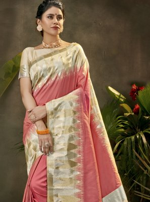 Pink Silk Traditional Saree