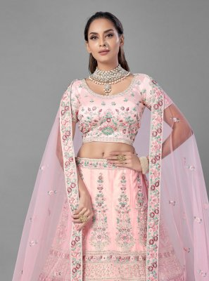 Pink Thread Lehenga Choli