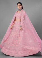 Pink Thread Lehenga Choli