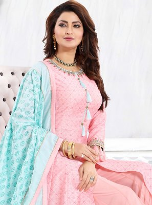 Pink Thread Readymade Suit