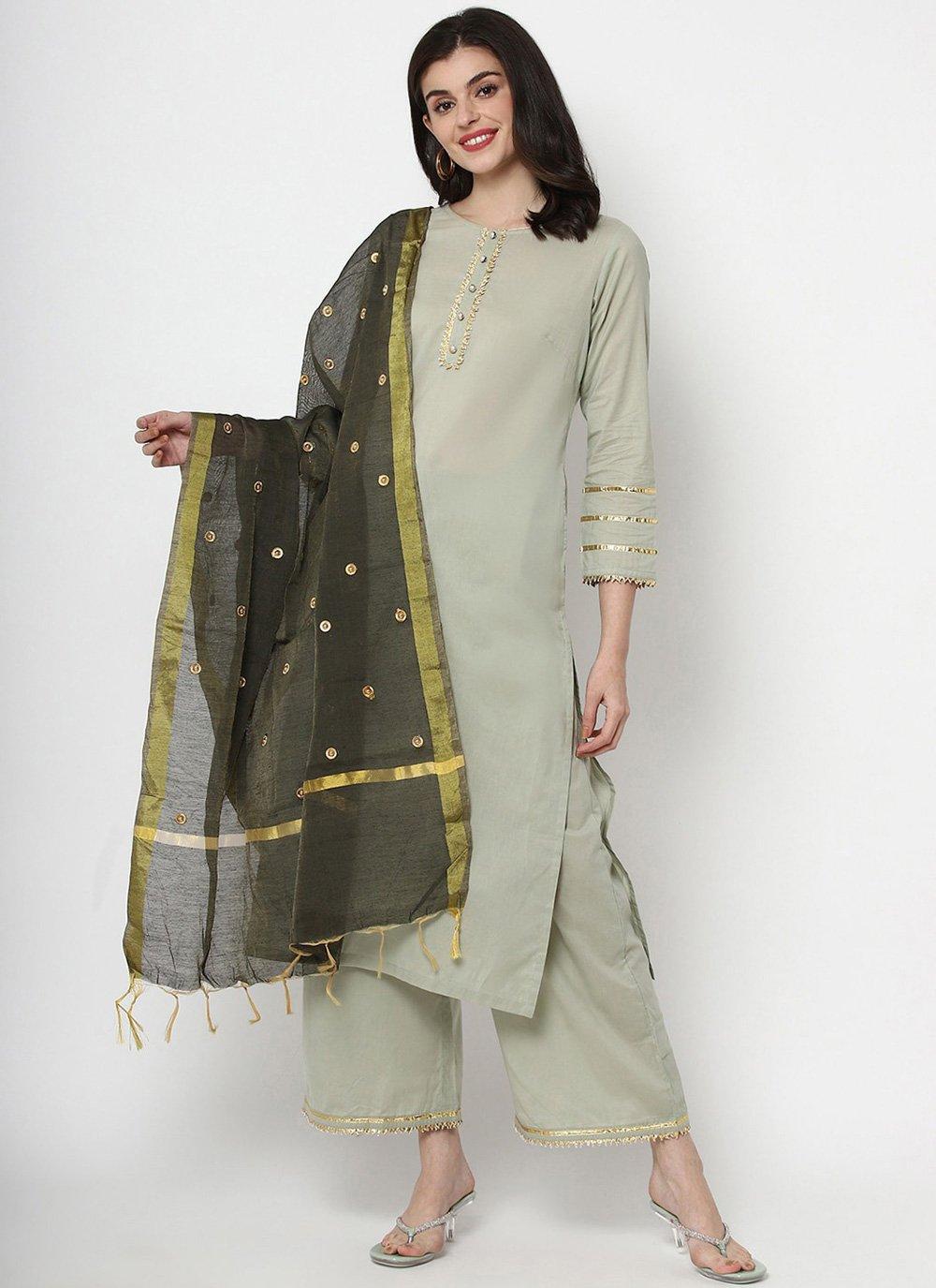 Plain Cotton Readymade Salwar Kameez