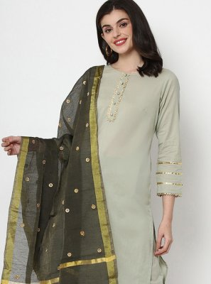 Plain Cotton Readymade Salwar Kameez