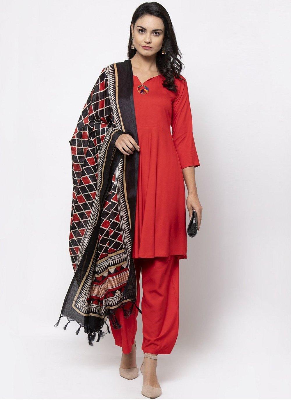 Plain Designer Salwar Kameez