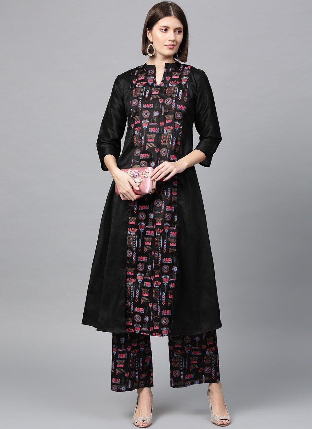 Poly Silk Festival Designer Kurti