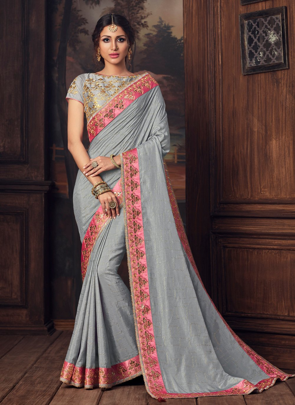Poly Silk Party Designer Traditional Saree