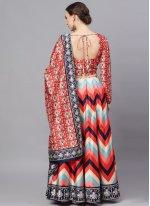 Poly Silk Sangeet Readymade Lehenga Choli
