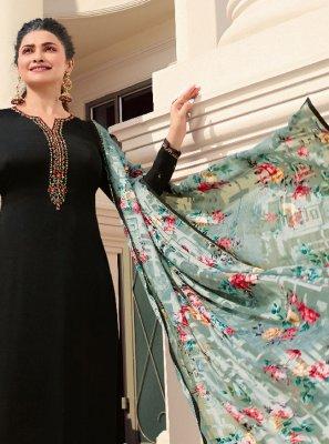 Prachi Desai Black Festival Designer Palazzo Suit