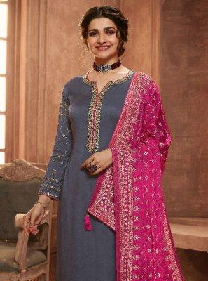 Prachi Desai Embroidered Pant Style Suit