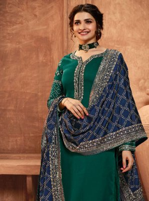 Prachi Desai Georgette Satin Pant Style Suit