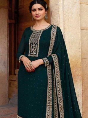 Prachi Desai Green Designer Suit