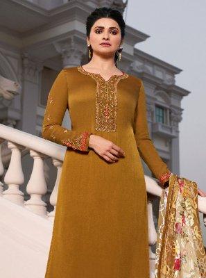 Prachi Desai Satin Festival Designer Palazzo Salwar Suit