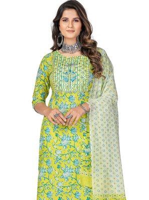 Print Cotton Multi Colour Readymade Suit