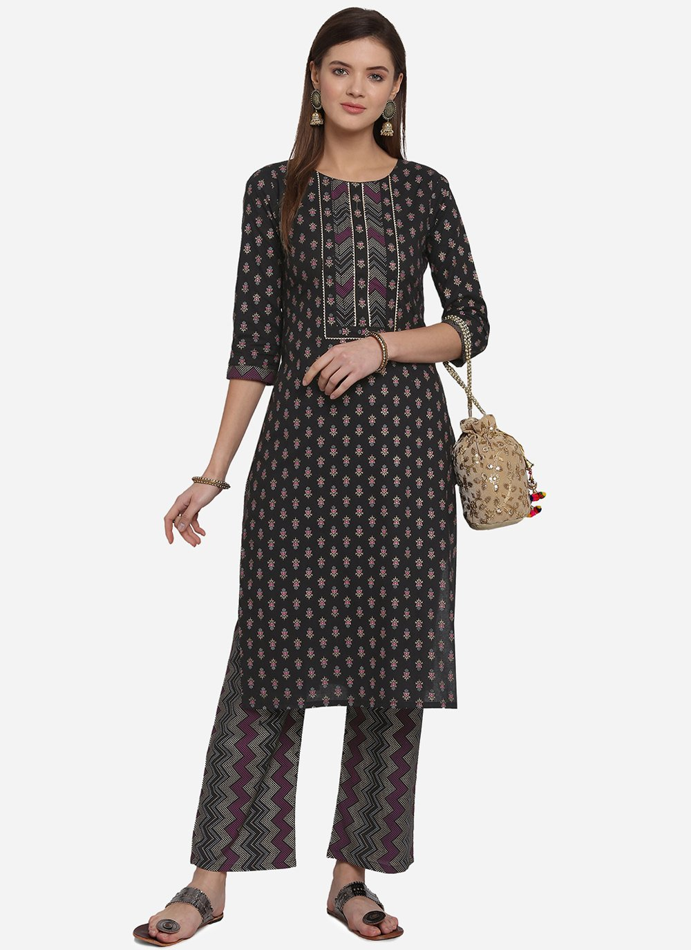 Print Cotton Party Wear Kurti