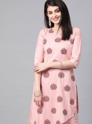 Print Pink Designer Kurti
