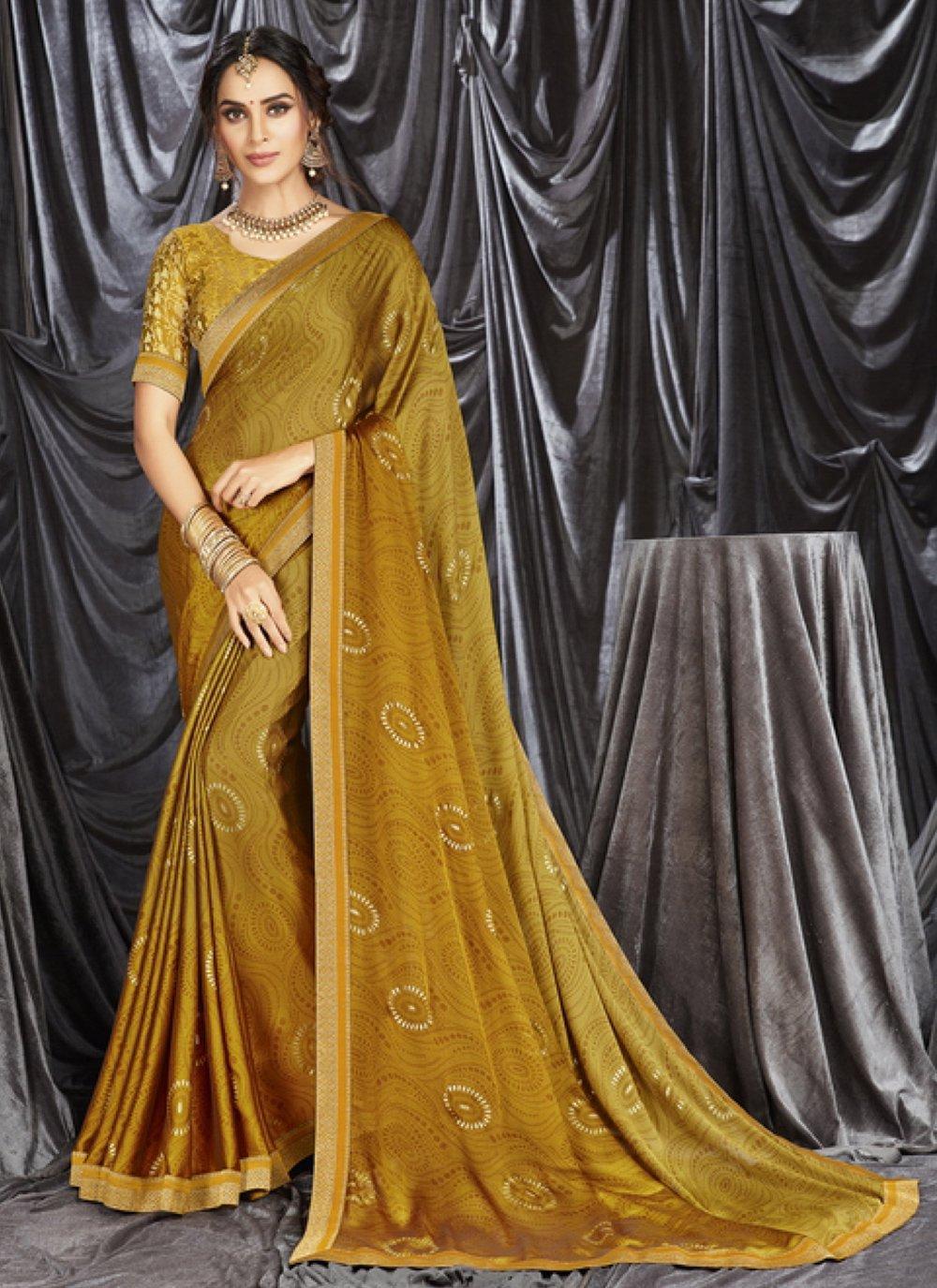 Print Sangeet Shaded Saree