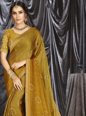 Print Sangeet Shaded Saree