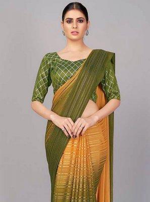 Print Silk Designer Saree in Multi Colour