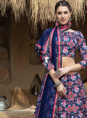 Printed Art Silk Lehenga Choli